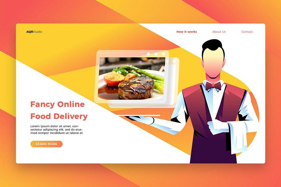 Fancy Food - Banner & Landing Page