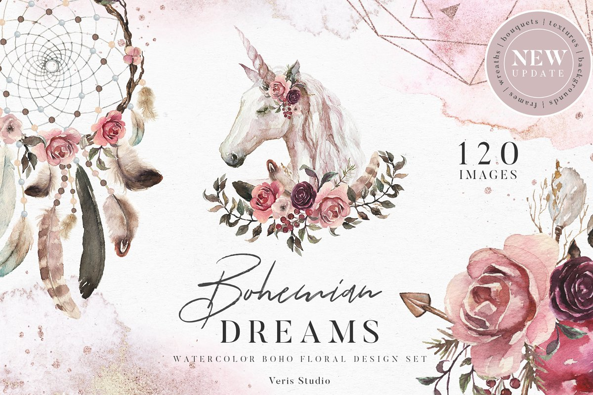 8f9ab1d83194 55%OFF Bohemian Dreams - Design Set ~ Illustrations ~ Creative Market