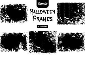 Grunge Halloween frames