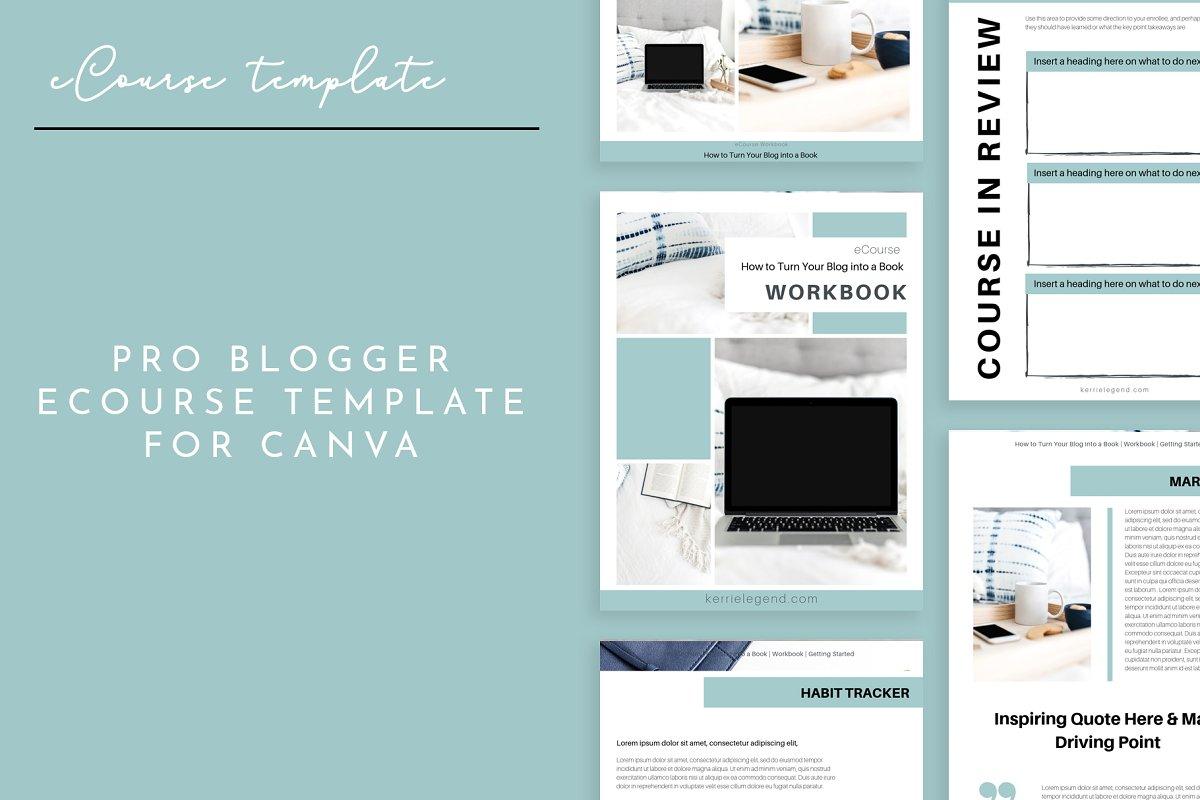 eCourse Workbook Canva Template