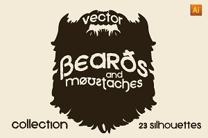 Vector Beard and Moustache Set
