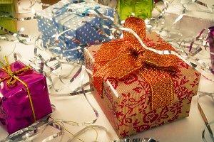 Gift boxes at Christmas