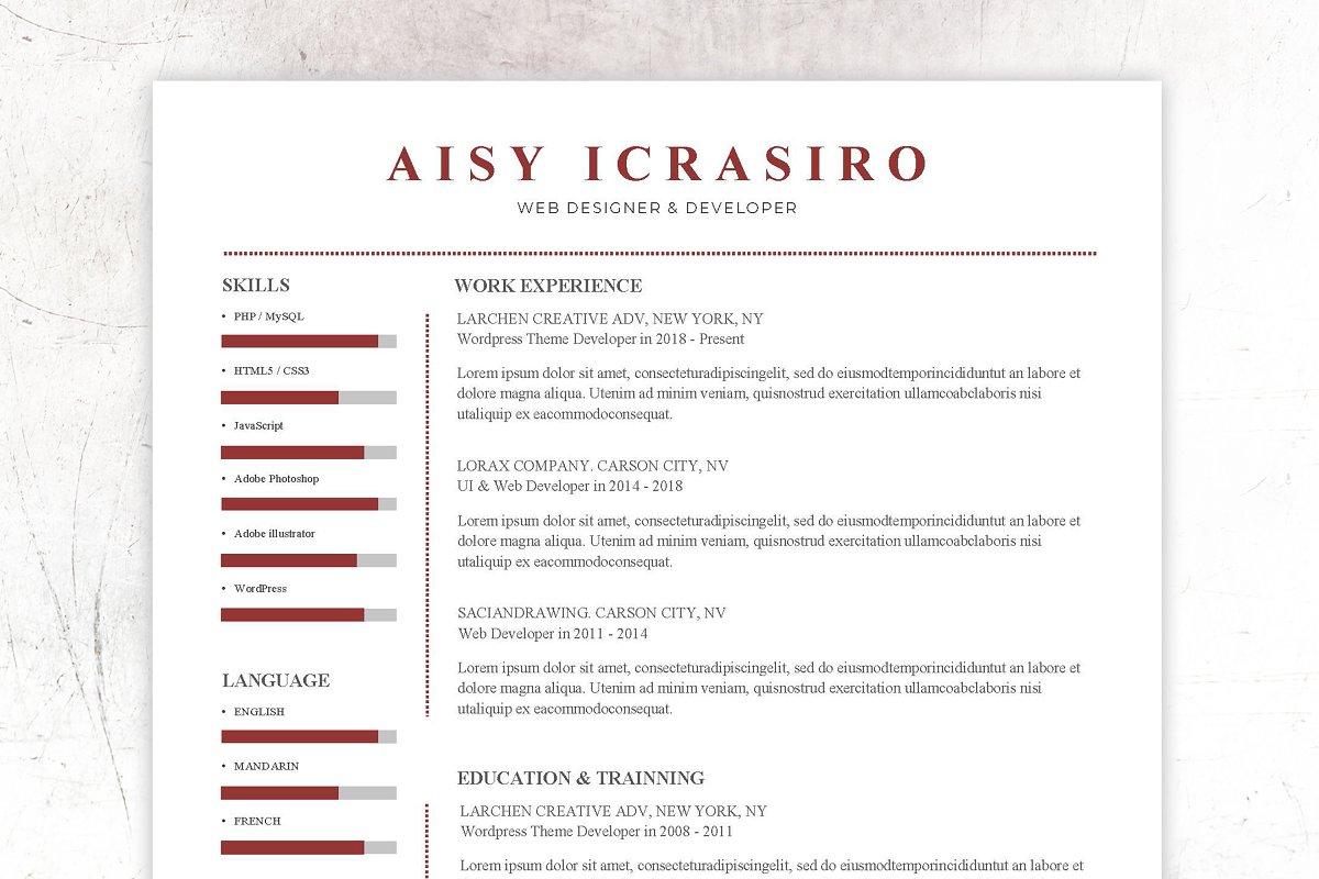 Resume CV - Cover Latter - Portfolio