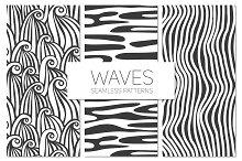 Waves. Seamless Patterns Set 1
