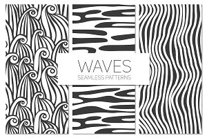 Waves. Seamless Patterns Set 1
