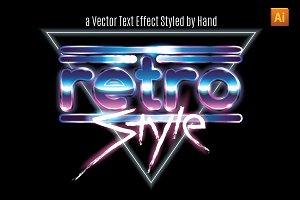 1980s style vector alphabet