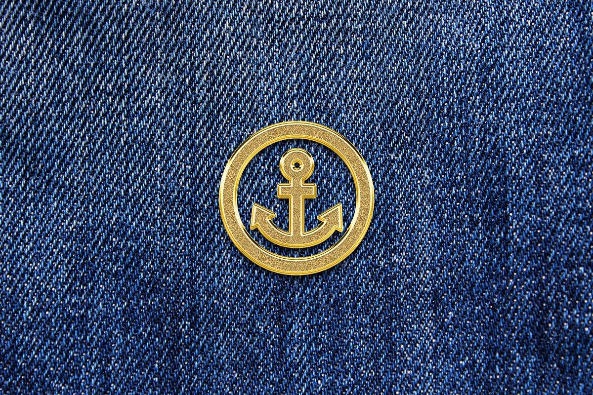 Gold Enamel Pin Mockup in Branding Mockups - product preview 8