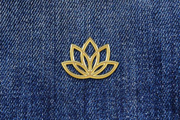 Gold Enamel Pin Mockup in Branding Mockups - product preview 1