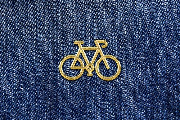Gold Enamel Pin Mockup in Branding Mockups - product preview 2