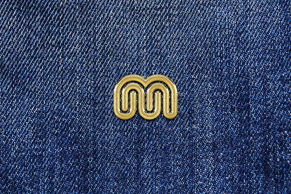 Gold Enamel Pin Mockup in Branding Mockups - product preview 3