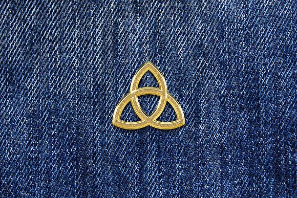Gold Enamel Pin Mockup in Branding Mockups - product preview 4
