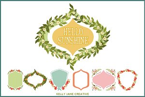 Flower Garden Wreaths & Frames