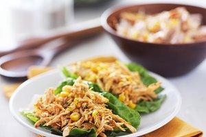 chicken fiesta lettuce wrap
