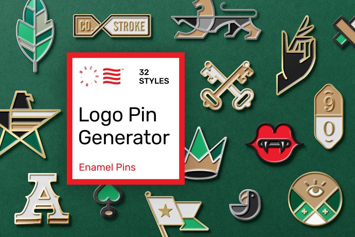 Logo Pin Enamel Mockup in Scene Creator Mockups - product preview 8