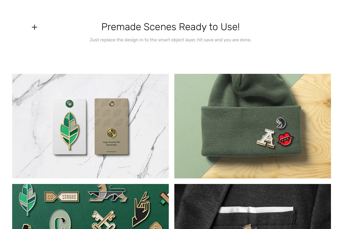 Logo Pin Enamel Mockup in Templates - product preview 4