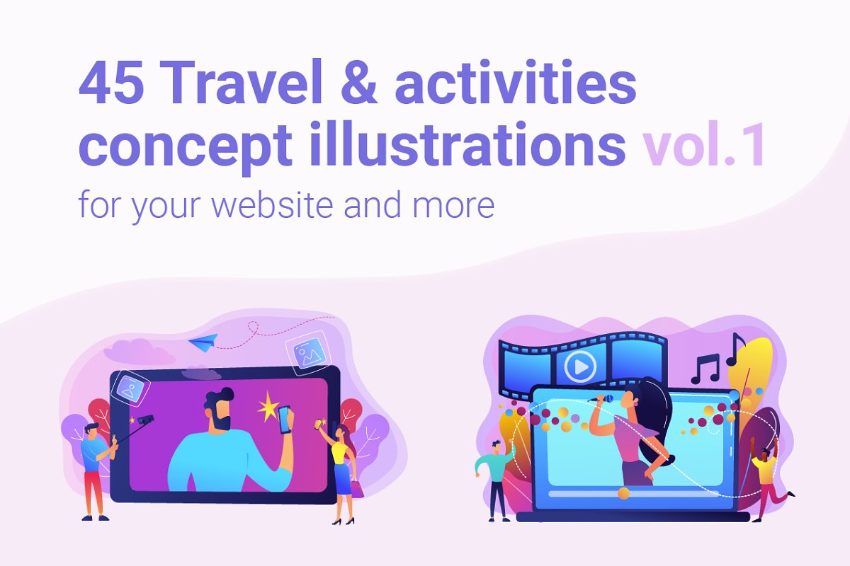 Travel concept illustrations