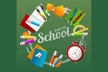School Background. Vector