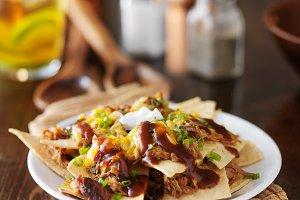 pulled pork barbecue nachos