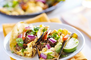 chorizo scrambled egg tacos