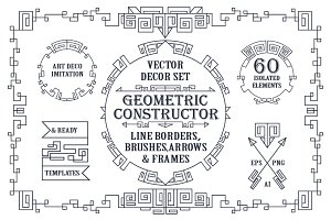 Geometric decor creator.Art Deco
