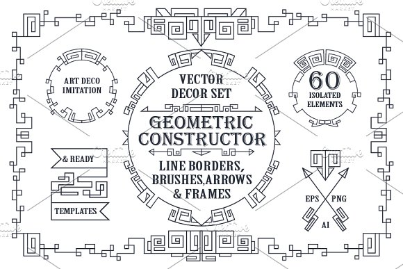 Geometric decor creator.Art Deco - Objects