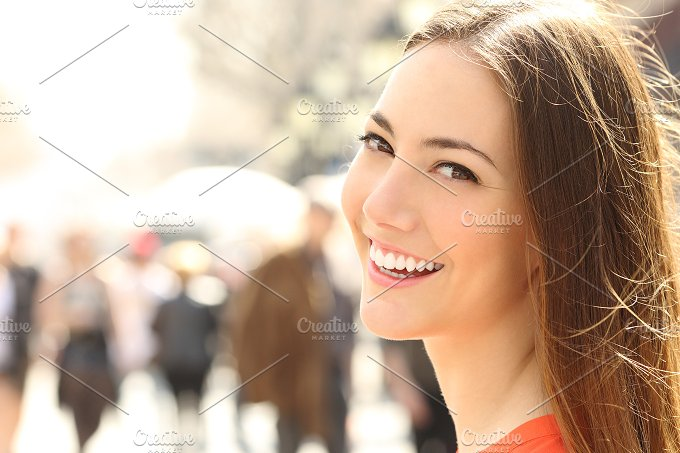 Woman face smile with perfect teeth looking you.jpg - Beauty & Fashion