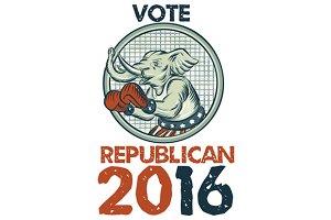 Vote Republican 2016 Elephant Boxer