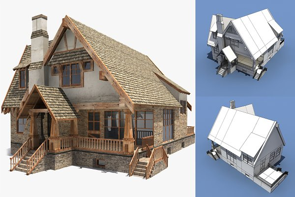 3D Architecture: Daniel Mikulik - Low Poly House