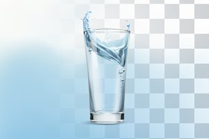 Glass of water illustration
