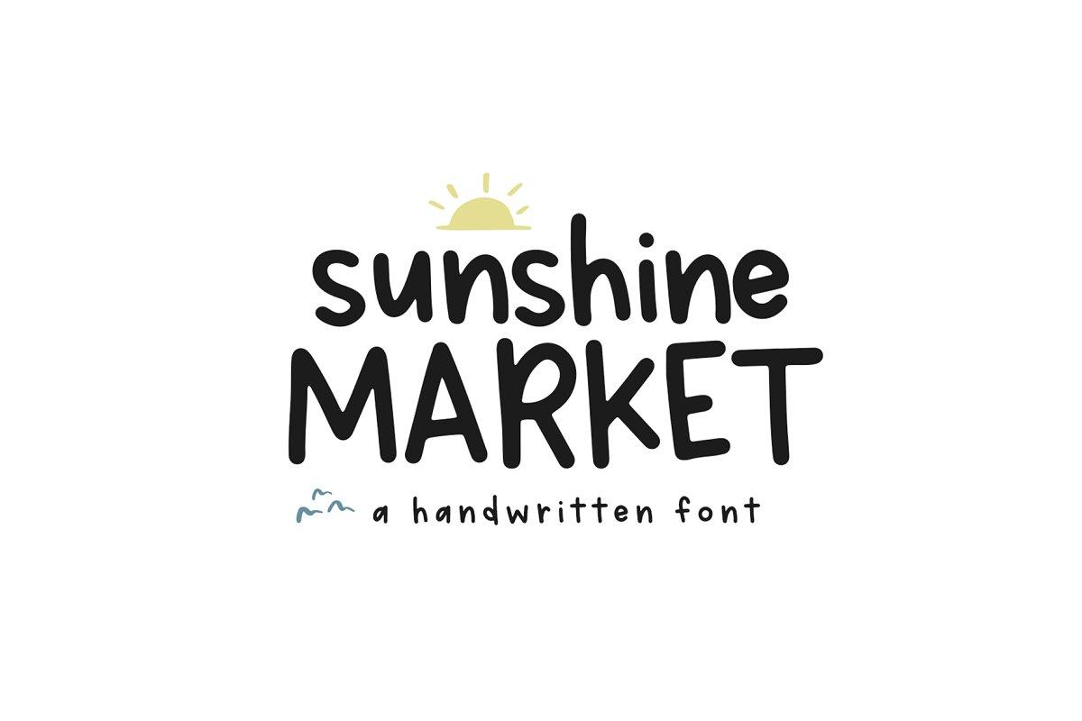 Sunshine Market - Handwritten Font