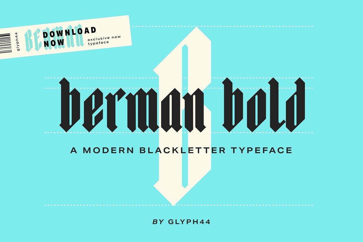 Berman Bold | Blackletter Font