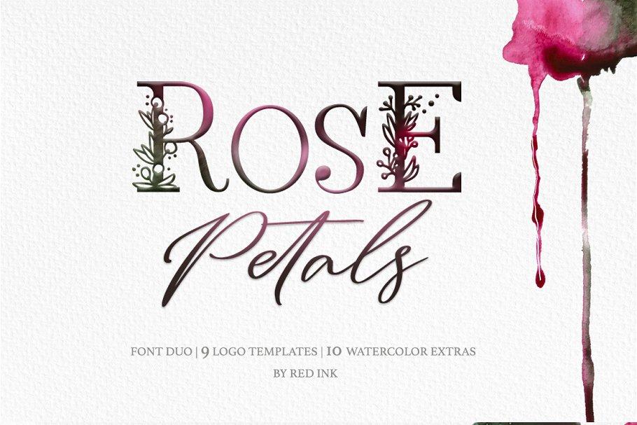 Rose Petals. Font duo + Bonuses.