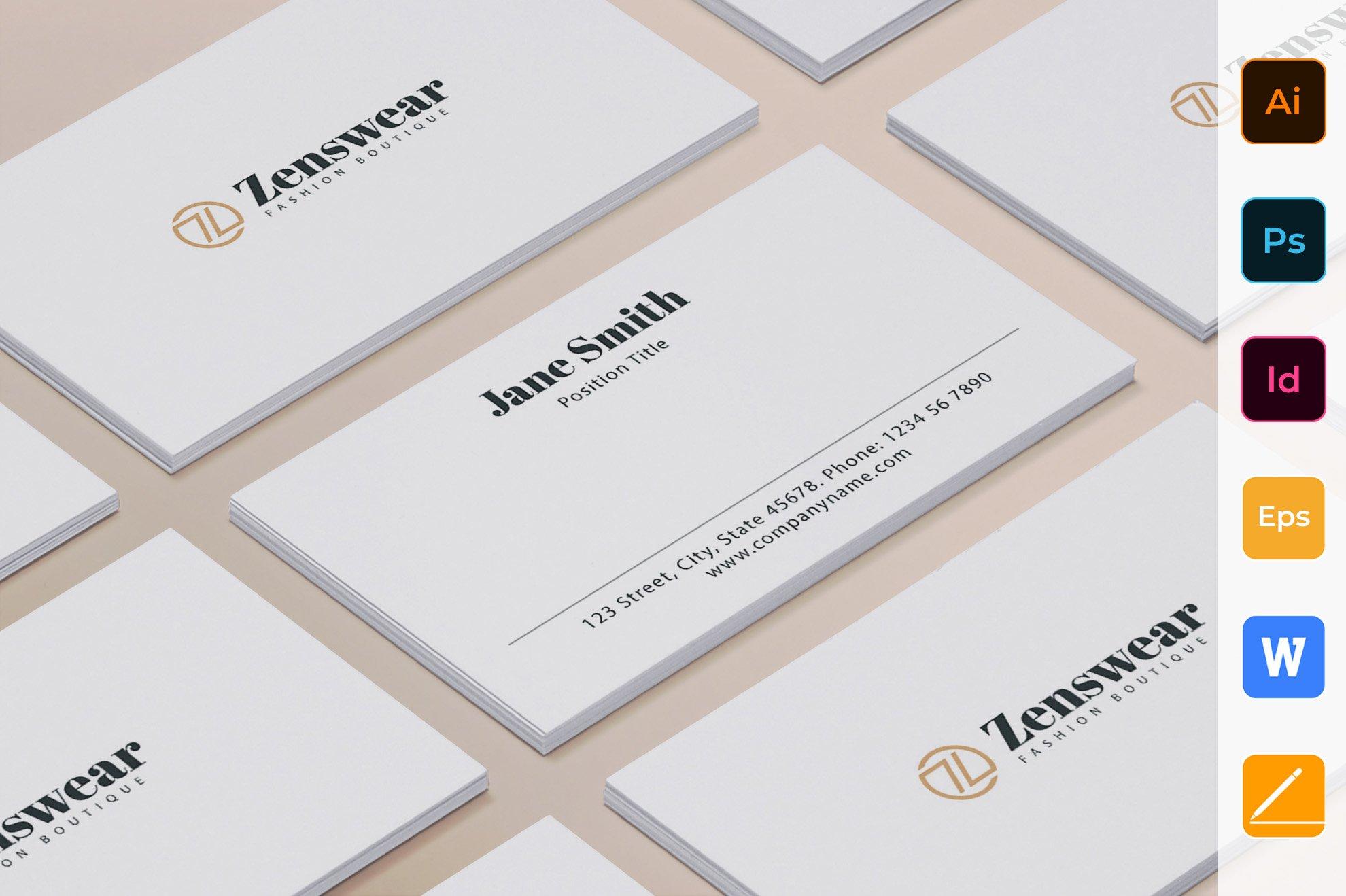 Boutique Business Card Creative Illustrator Templates Creative Market