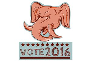 Vote 2016 Republican Elephant Mascot