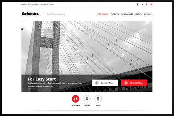 Advisio – Marketing Landing Page in Bootstrap Themes - product preview 1