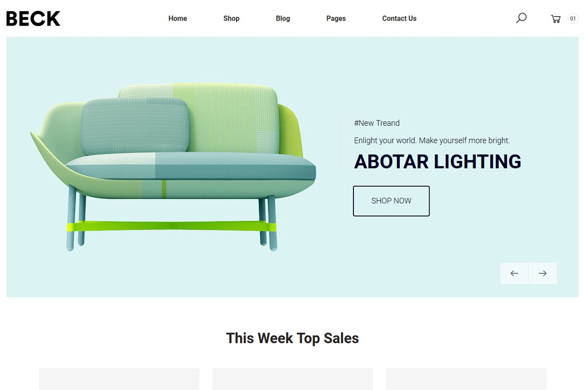 Beck – Furniture Bootstrap4 Template