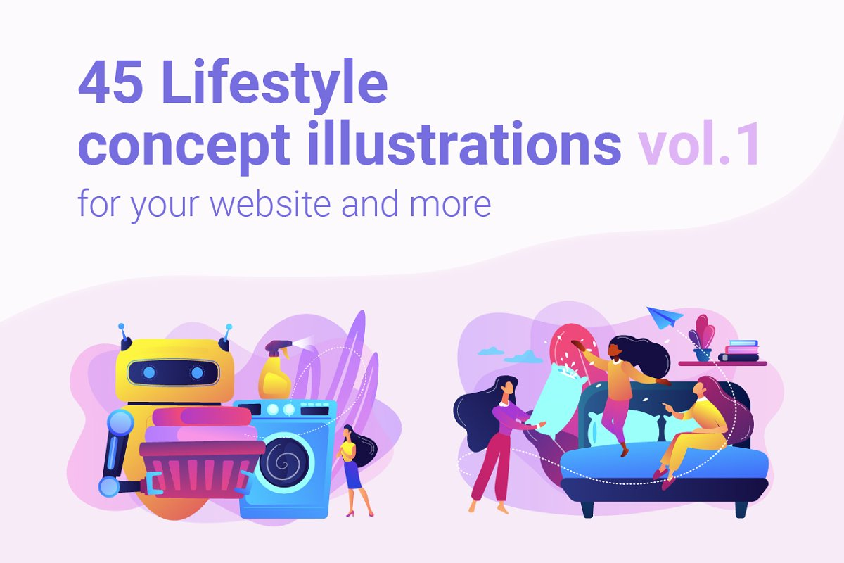 Lifestyle concept illustrations