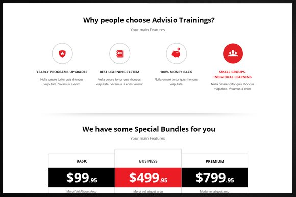 Advisio – Marketing Landing Page in Bootstrap Themes - product preview 3