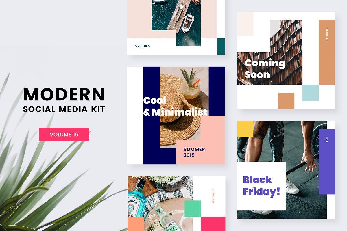. Modern Social Media Kit  Vol  16