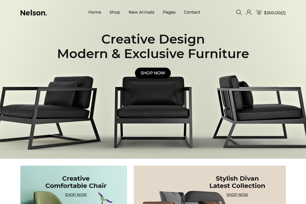 Nelson - Furniture HTML5 Template