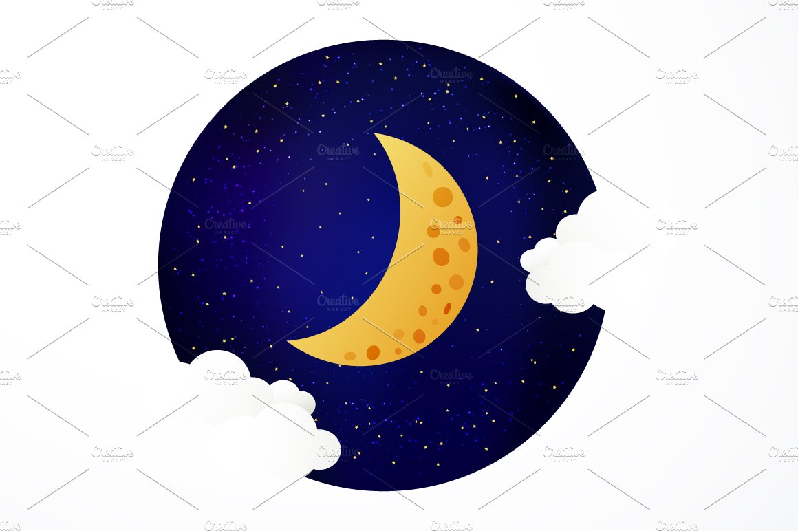 Moon Illustration Illustrations Creative Market