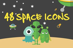 48 Space Icons