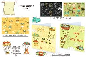 Flying object´s set