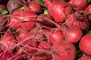 Beets at the market
