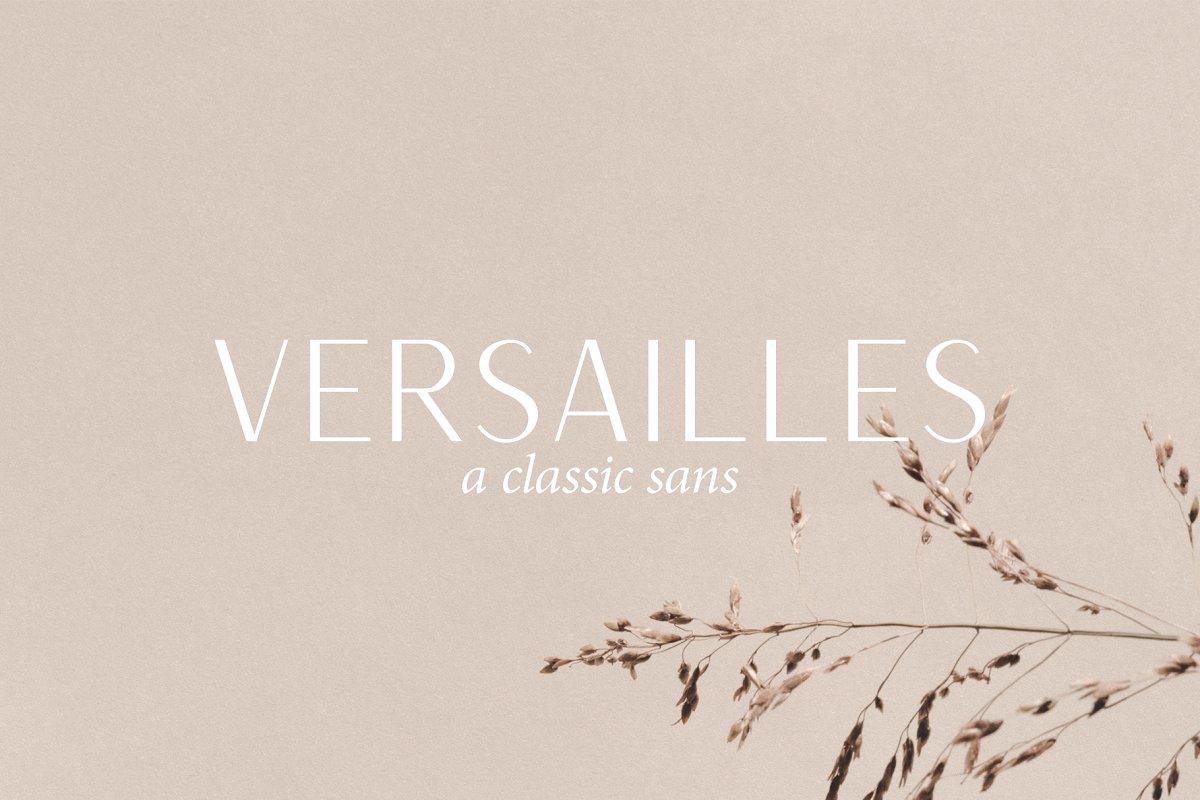 Versailles | A Classic Sans