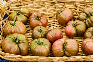 Heirloom pink tomatoes