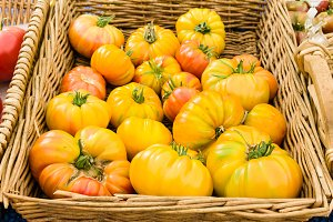 Yellow heirloom tomatoes