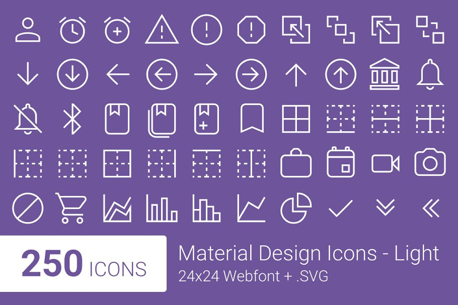 Material Design Icons - Light