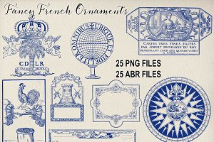 Vintage French Ornament Brushes