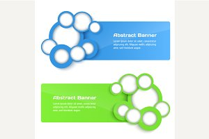 3D Vector Banners with circle.